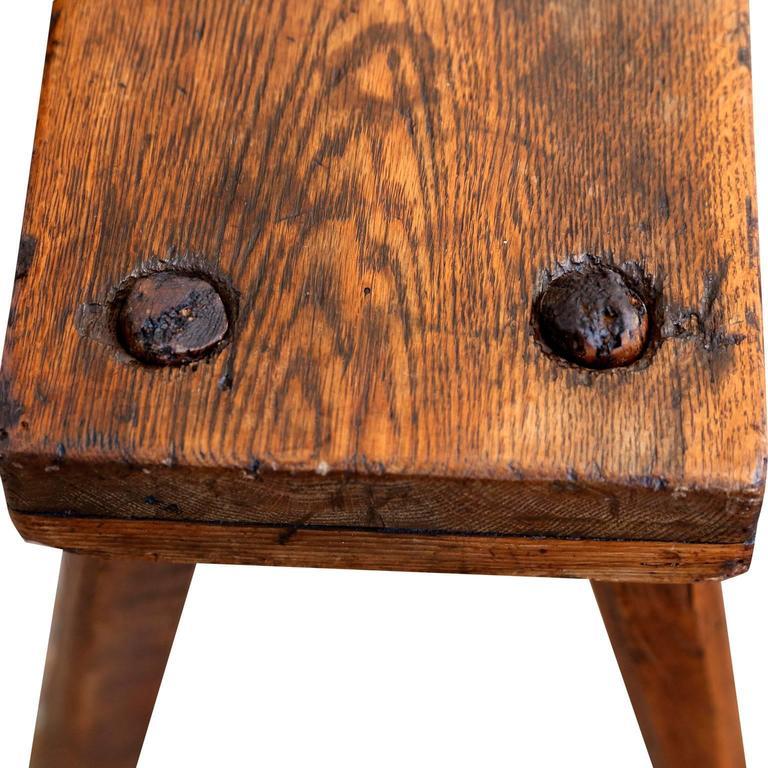 Primitive English Oak Bench For Sale 2