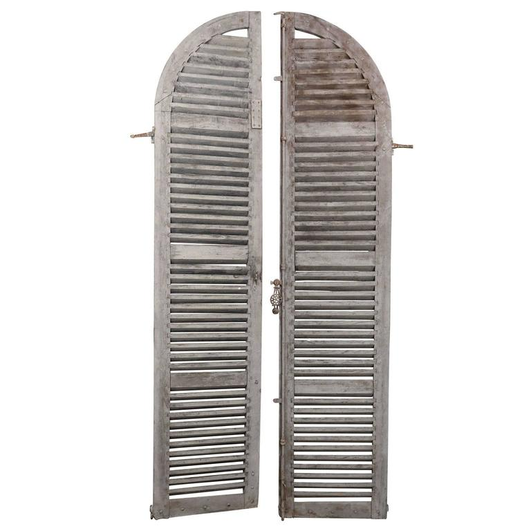 Pair of Large 19th Century Shutter Doors from France For Sale