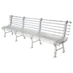 Long French Iron Bench