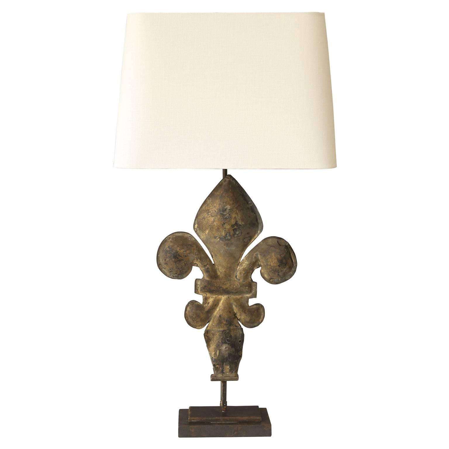 Gilt Tole Fleur De Lis Table Lamp 1