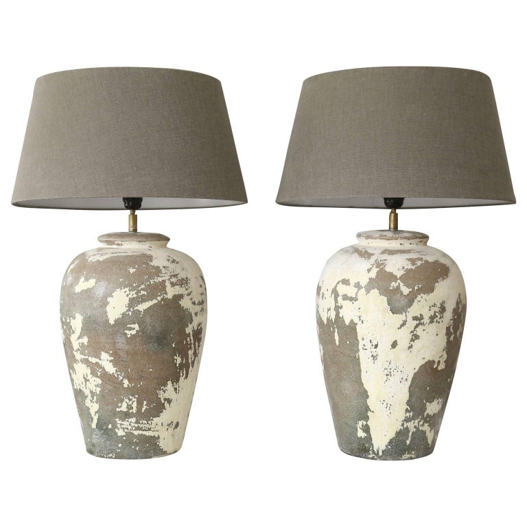 Pair Of Ceramic Vase Lamps For Sale At 1stdibs