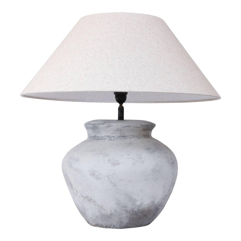 Large Terracotta Table Lamp At 1stdibs