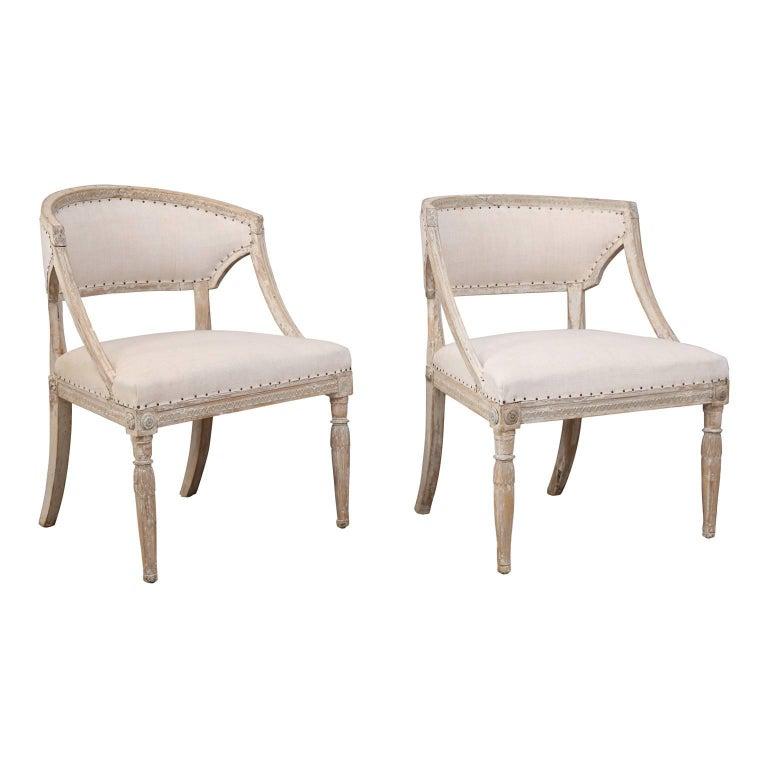 Pair of 19th Century Swedish Armchairs