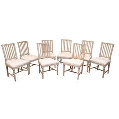 Set of Eight 19th Century Swedish Dining Chairs