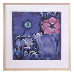 "Signed Serigraph ""Violet Monochrome"" by Lowell Nesbitt"
