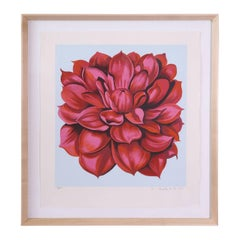 "Signed Serigraph ""Red Dahlia"" by Lowell Nesbitt"