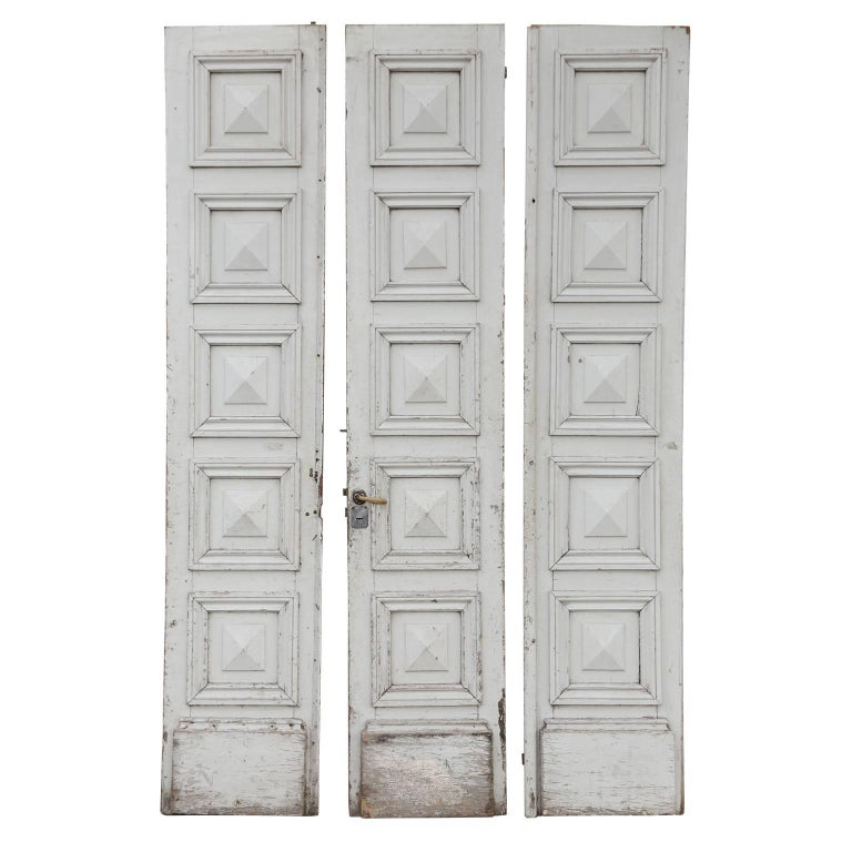 Three Antique French Doors For Sale