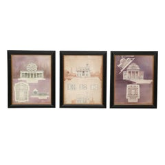 Set of Three Architectural Drawings