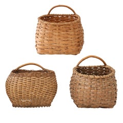 Three Vintage Swedish Baskets