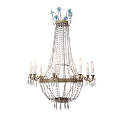 Empire Tole and Crystal Chandelier
