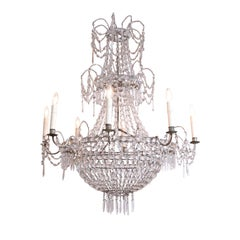 Eight-Arm Crystal Chandelier