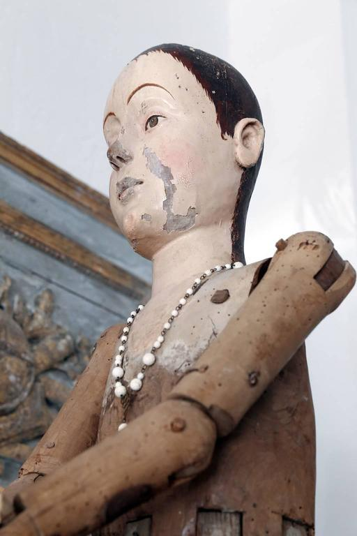 Large Scale Wooden French Statue For Sale 1