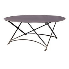 Oval Hand-Forged Steel Table