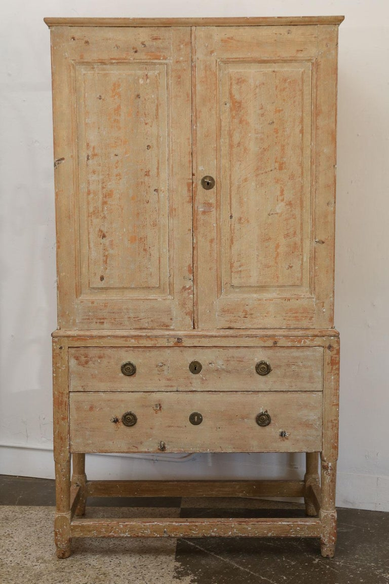 Swedish Pine Tall Cabinet For Sale 3