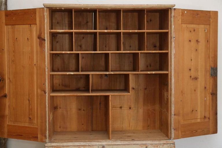 Gustavian Swedish Pine Tall Cabinet For Sale