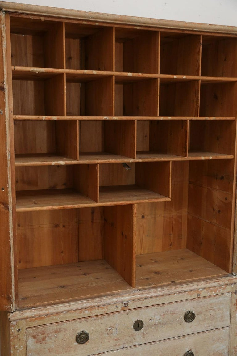 Swedish Pine Tall Cabinet For Sale 1