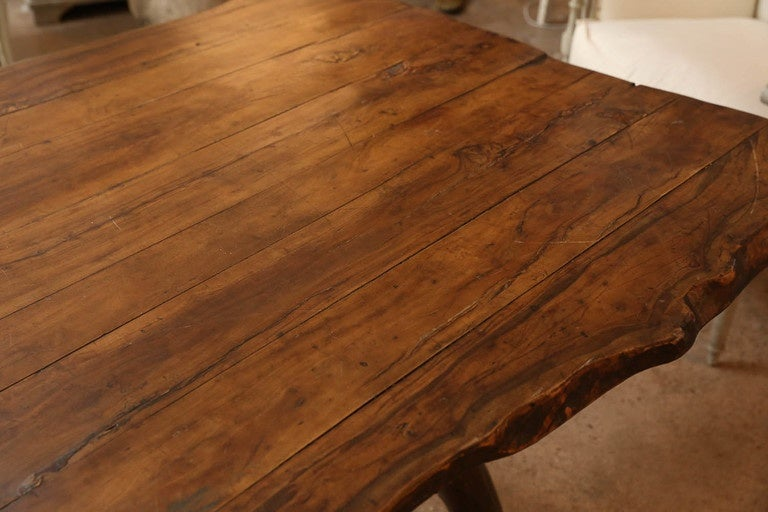Vintage Walnut Top Belgian Root Table For Sale At 1stdibs