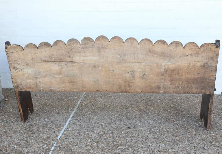 Early 18th Century Italian Chestnut Bench For Sale 2