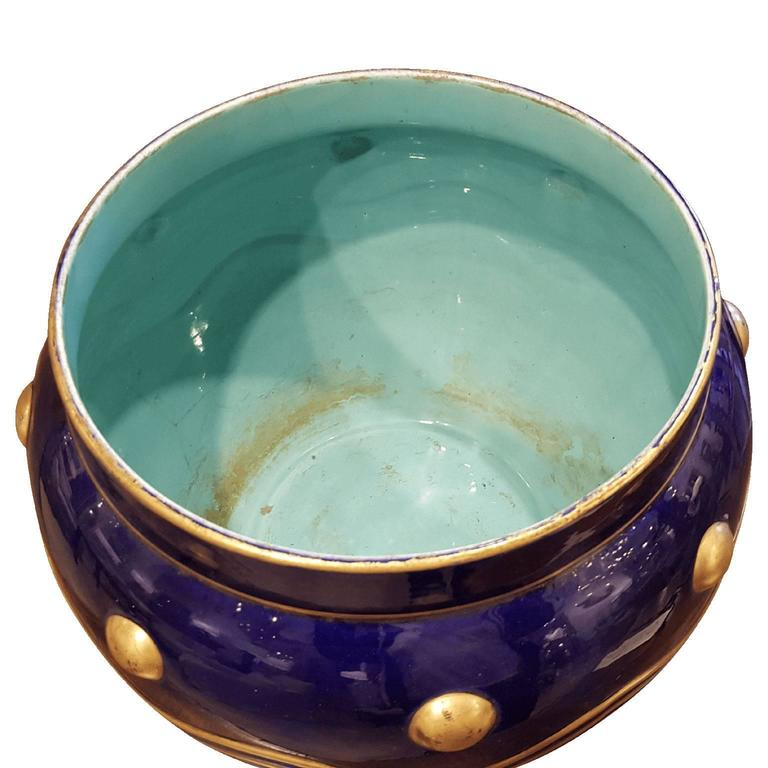 Early 20th Century French Faience Cachepot For Sale
