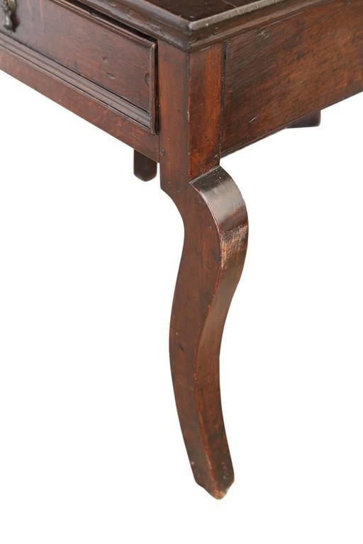 Folk Art English Oak Side Table For Sale
