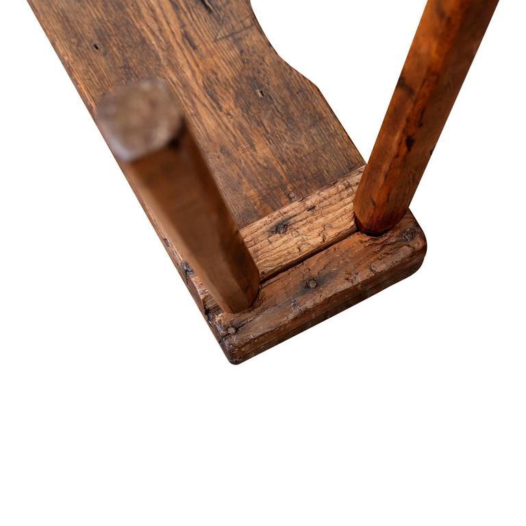 Primitive English Oak Bench For Sale 3