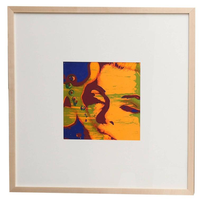 'The Marilyn Monroe Trip - 8' original serigraph artwork by Burt Stern (1929-2013), after 'The Last Sitting,' published in the March 1968, issue of Avant Garde magazine (with a relatively low circulation except in NYC), and matted and framed in
