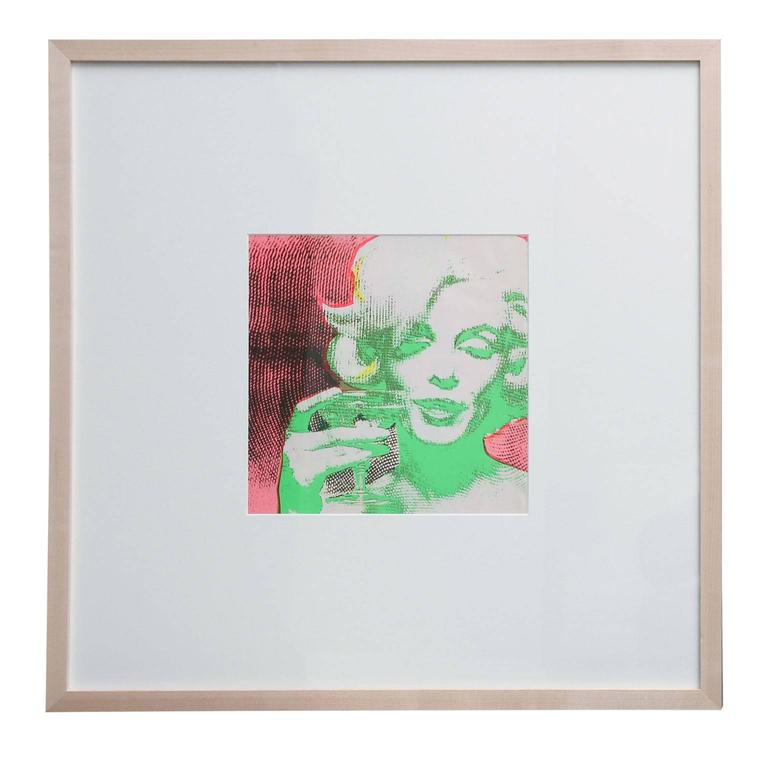 'The Marilyn Monroe Trip - 2' original serigraph artwork by Burt Stern (1929-2013), after 'The Last Sitting,' published in the March 1968 issue of Avant Garde magazine (with a relatively low circulation except in NYC), and matted and framed in