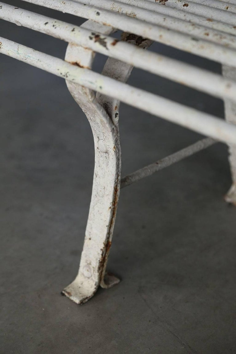 20th Century Long French Iron Bench For Sale
