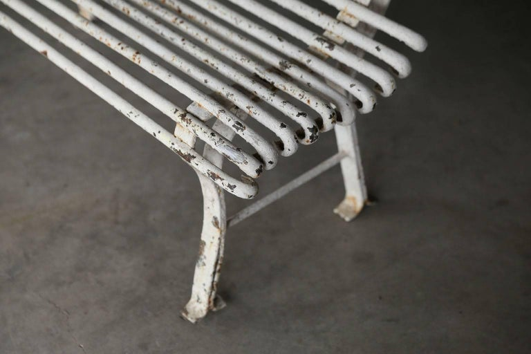 Long French Iron Bench For Sale 2