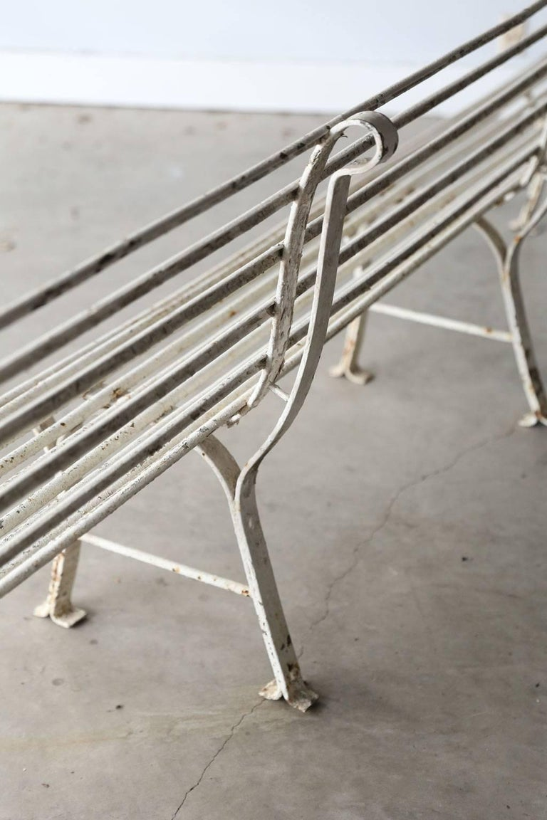 Long French Iron Bench For Sale 4