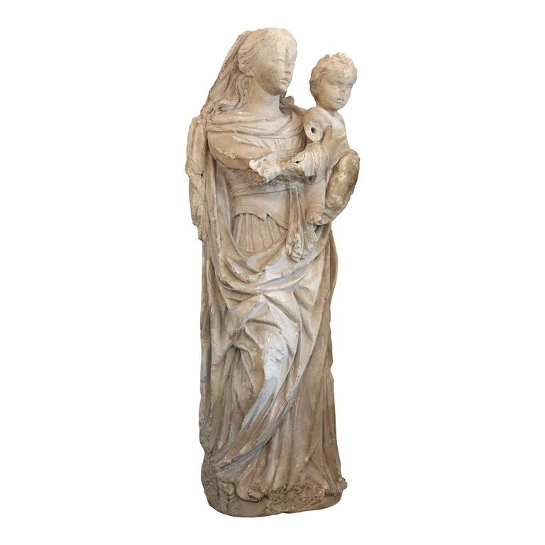 Large French Limestone Statue