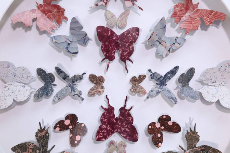 Antique Marbled End Paper Butterflies For Sale 2