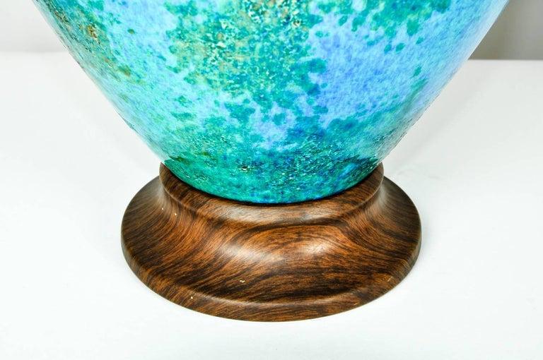 Vintage Glazed Ceramic Table or Task Lamps, Pair For Sale 1