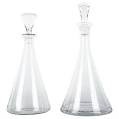Mid-20th Century Pair of Baccarat Crystal Decanter