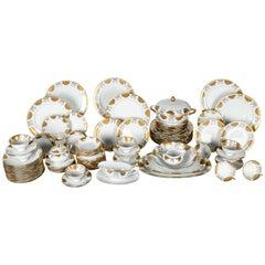 Antique German Porcelain Dinner Service For Ten People .