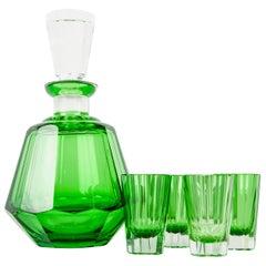 Vintage Daum Cut Crystal Liqueur Set