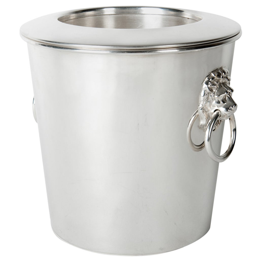 Vintage English Silver Plated Wine Cooler / Ice Bucket