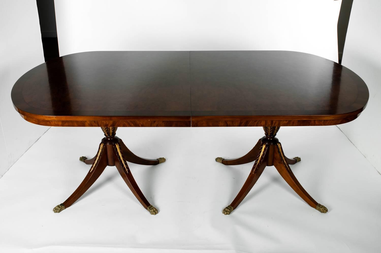 Vintage European Dinning Table With Two Leaf Extensions For Sale At 1stdibs