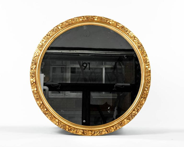 Very best Vintage Round Wooden Frame Gilded Wall Mirror. at 1stdibs NU12