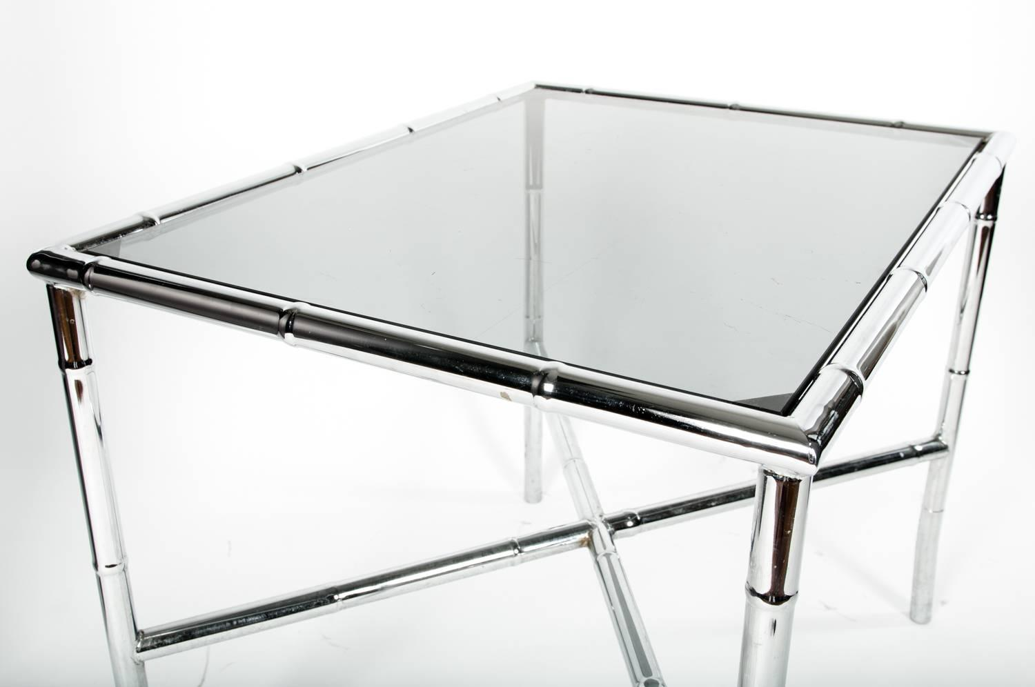 Mid Century Modern Tinted Glass Top Coffee Or Cocktail Table For Sale At 1stdibs