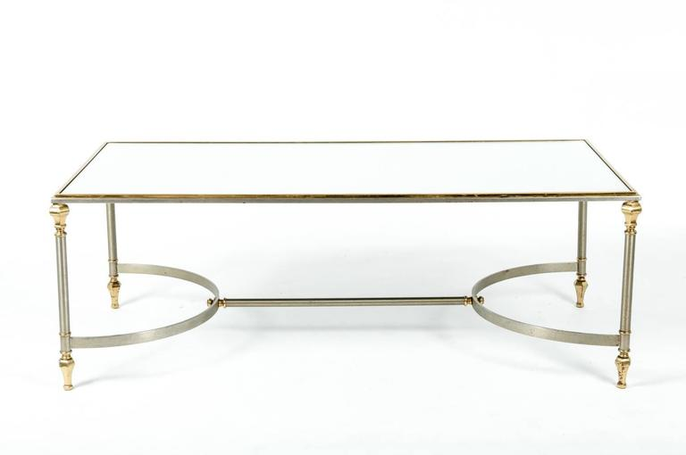 Mid century modern glass top cocktail table for sale at for Contemporary glass cocktail tables