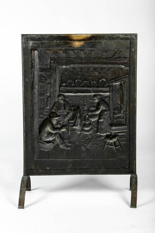 Antique English Brass Fireplace Screen At 1stdibs
