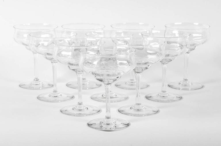 Vintage Baccarat Crystal Champagne Martini Crystal