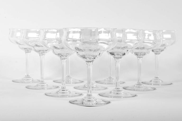 Vintage Baccarat Crystal Champagne / Martini Crystal Coupes For Sale ...