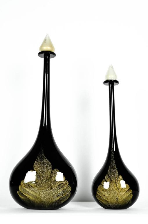 Mid century modern art deco style two pieces murano