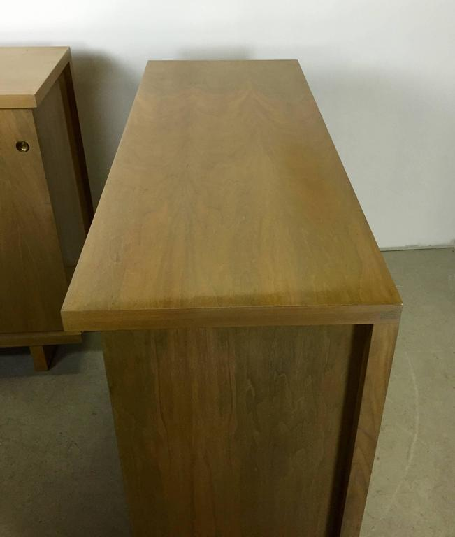 American Large Pair of Matching Chests in Bleached Walnut For Sale