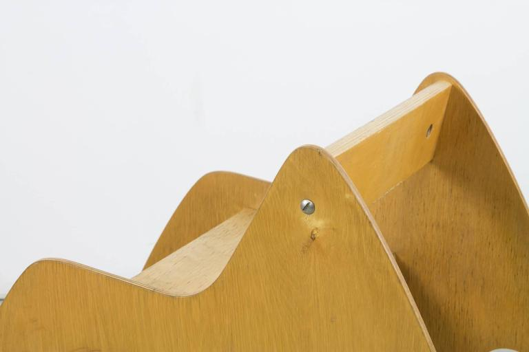 Perfect plywood rocker by Albrecht Lange & Hans Mitzlaff with sinuous curves and great proportions.
