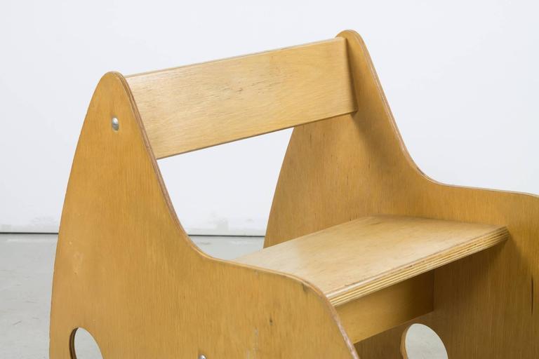 Mid-Century Modern Plywood Child's Rocker by Albrecht Lange & Hans Mitzlaff For Sale