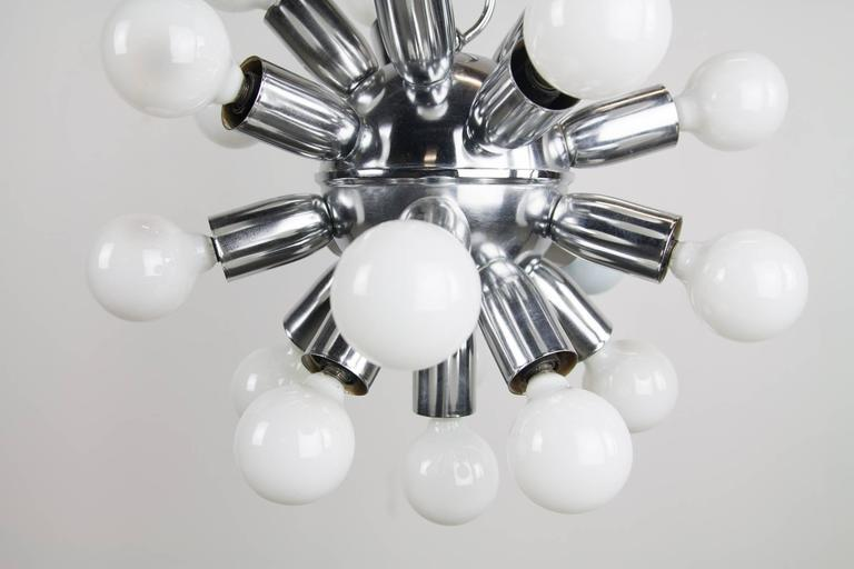 American 1970s Chrome Sputnik Chandelier For Sale