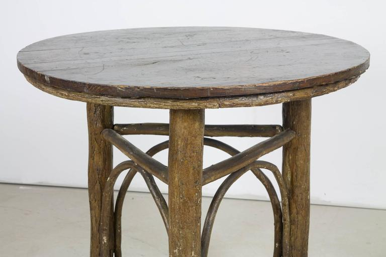 High Quality Old Hickory Three Legged Round Table 2